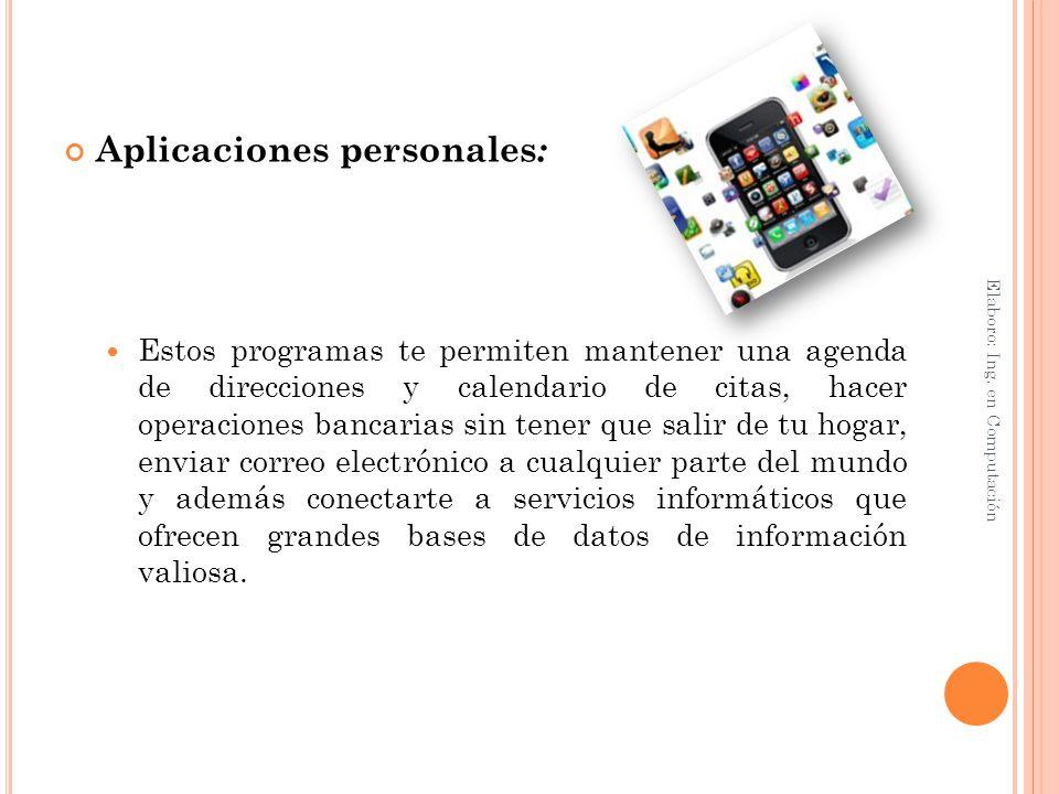 Aplicaciones personales: