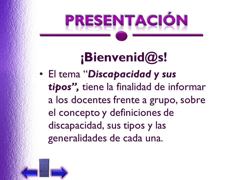 PRESENTACIÓN ¡Bienvenid@s!