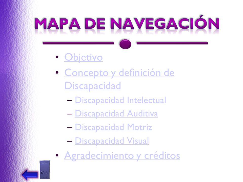 MAPA DE NAVEGACIÓN Objetivo Concepto y definición de Discapacidad