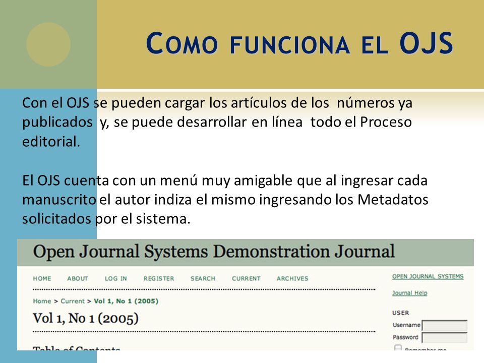 Introducción al Open Journal System