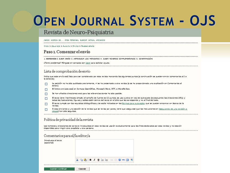 Open Journal System - OJS