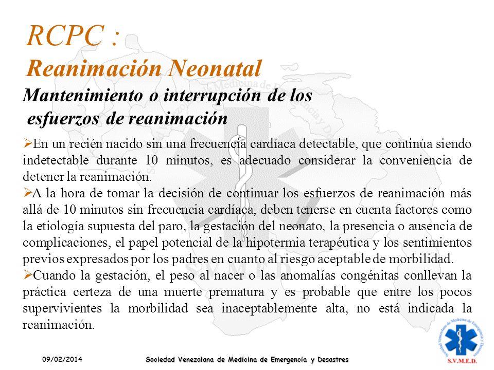 RCPC : Reanimación Neonatal