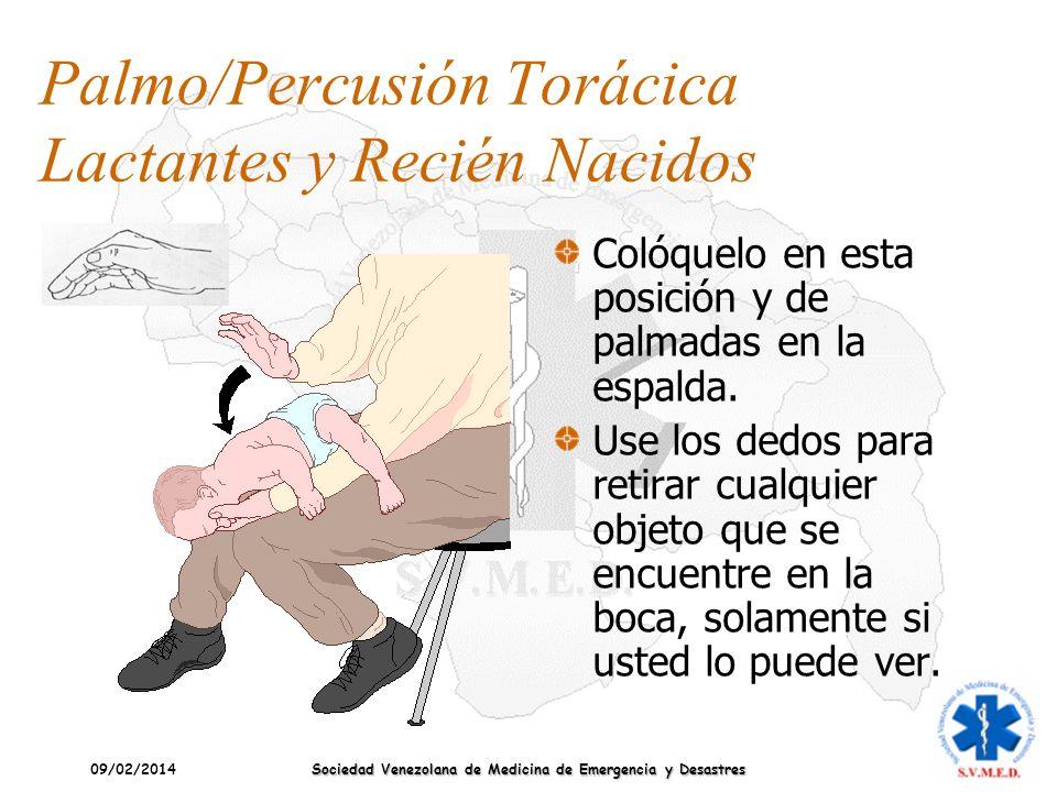 Palmo/Percusión Torácica Lactantes y Recién Nacidos