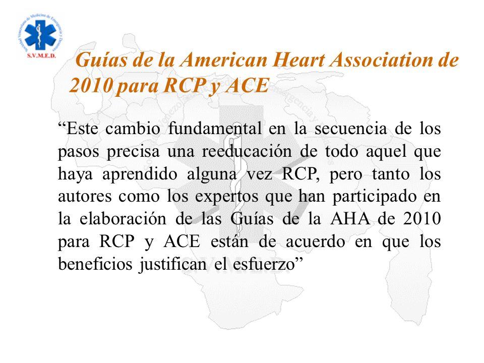 Guías de la American Heart Association de 2010 para RCP y ACE