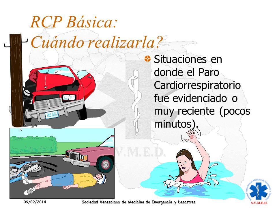 RCP Básica: Cuándo realizarla