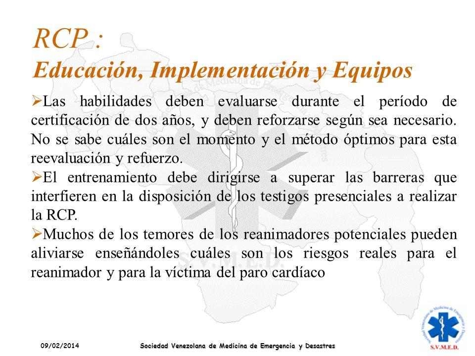 RCP : Educación, Implementación y Equipos