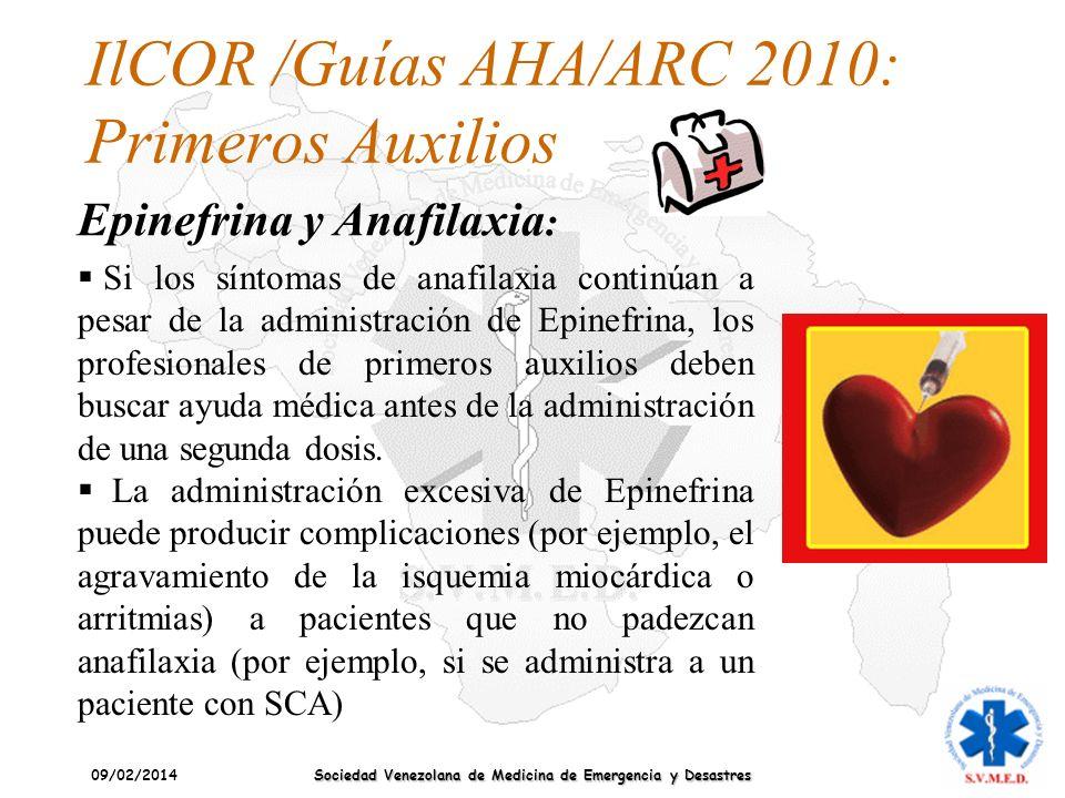 IlCOR /Guías AHA/ARC 2010: Primeros Auxilios