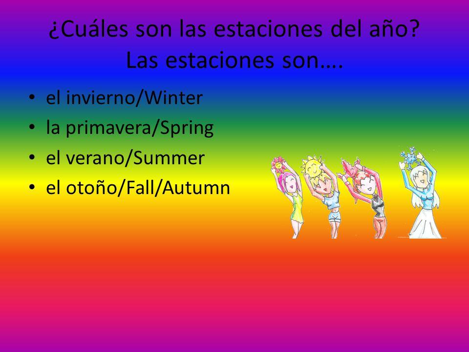 ¿Cuáles son las estaciones del año Las estaciones son….