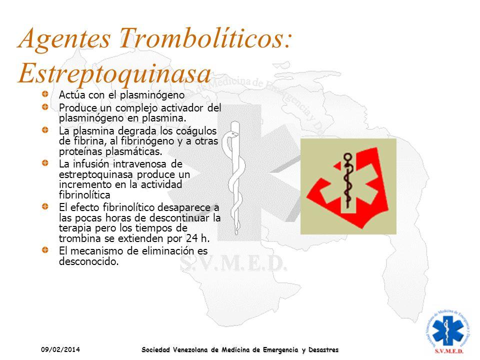 Agentes Trombolíticos: Estreptoquinasa