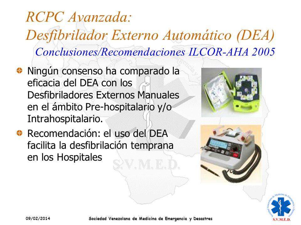RCPC Avanzada: Desfibrilador Externo Automático (DEA)