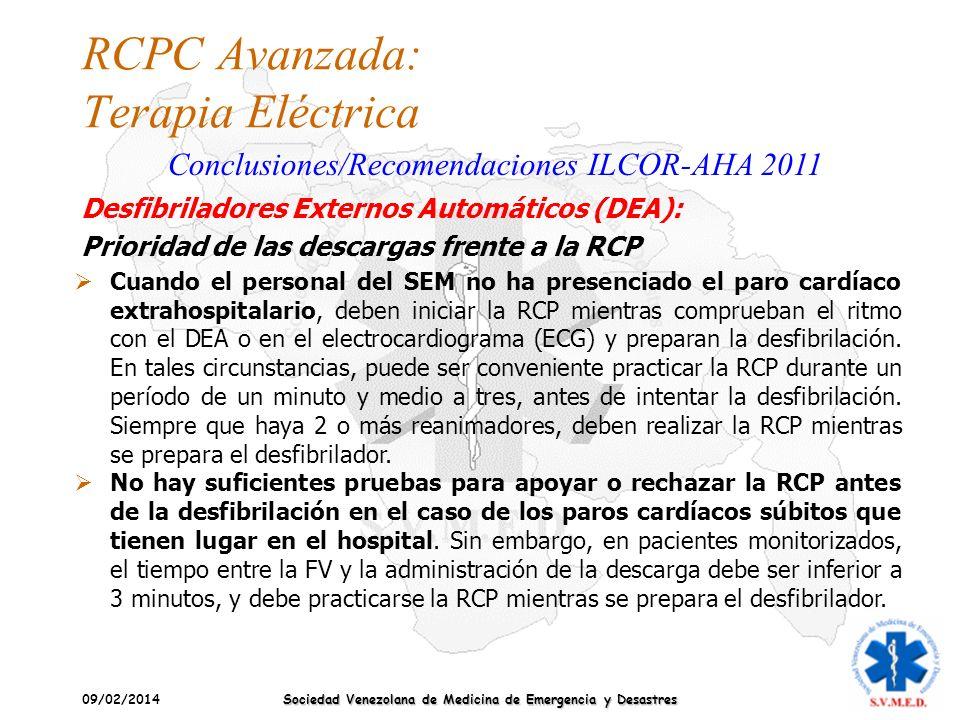 RCPC Avanzada: Terapia Eléctrica