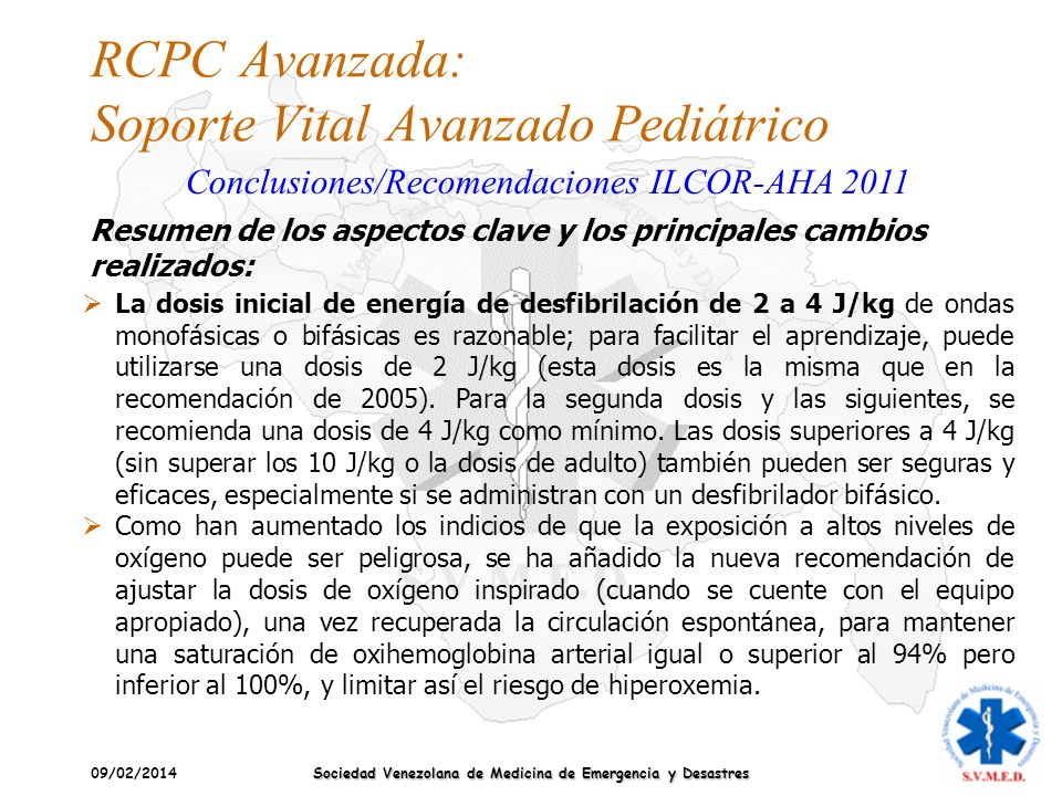 RCPC Avanzada: Soporte Vital Avanzado Pediátrico