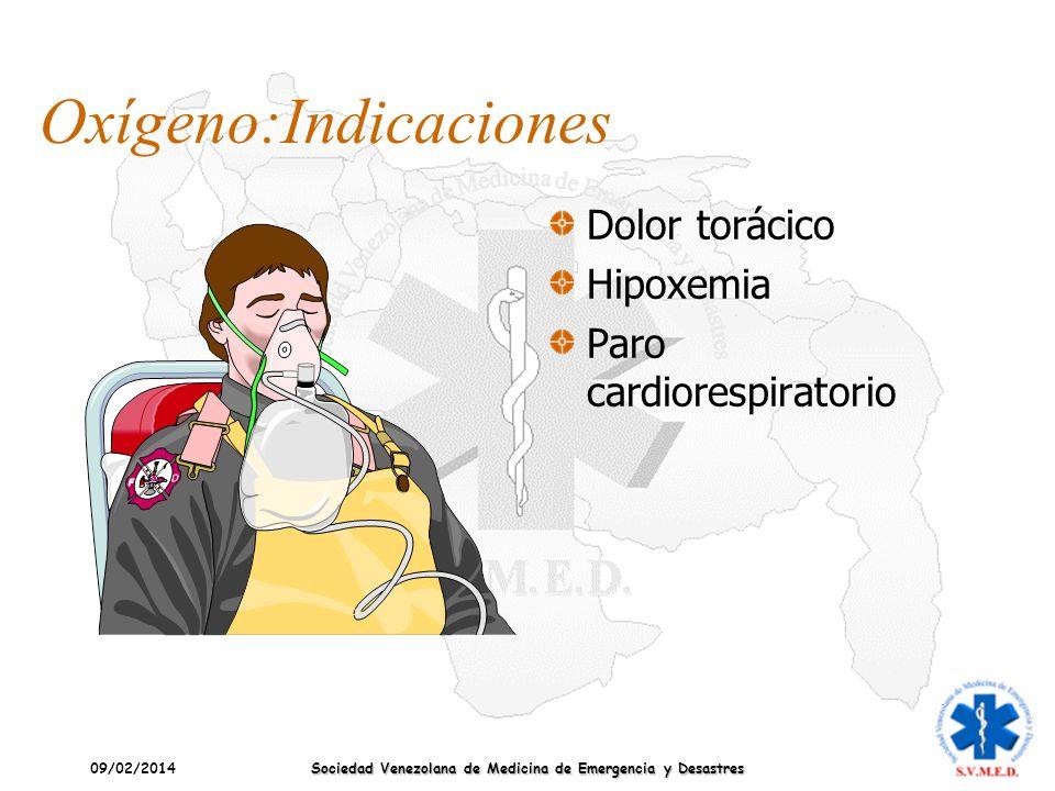 Oxígeno:Indicaciones