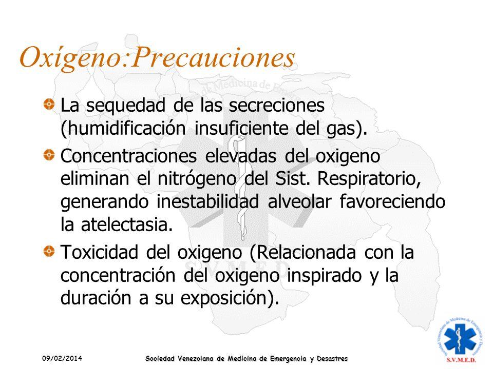 Oxígeno:Precauciones
