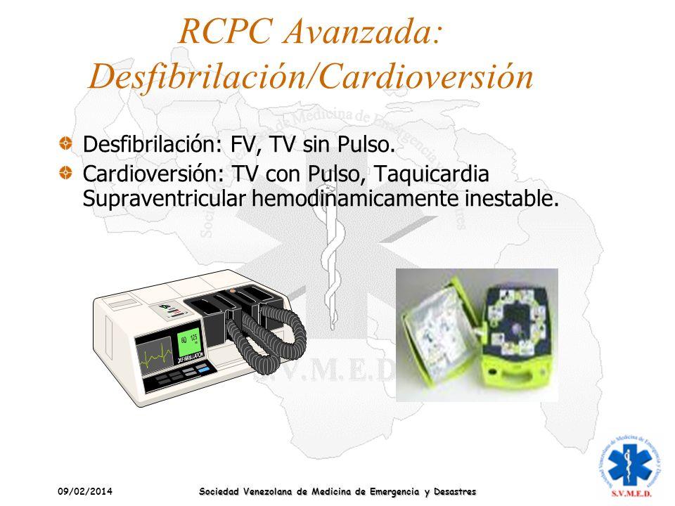 RCPC Avanzada: Desfibrilación/Cardioversión