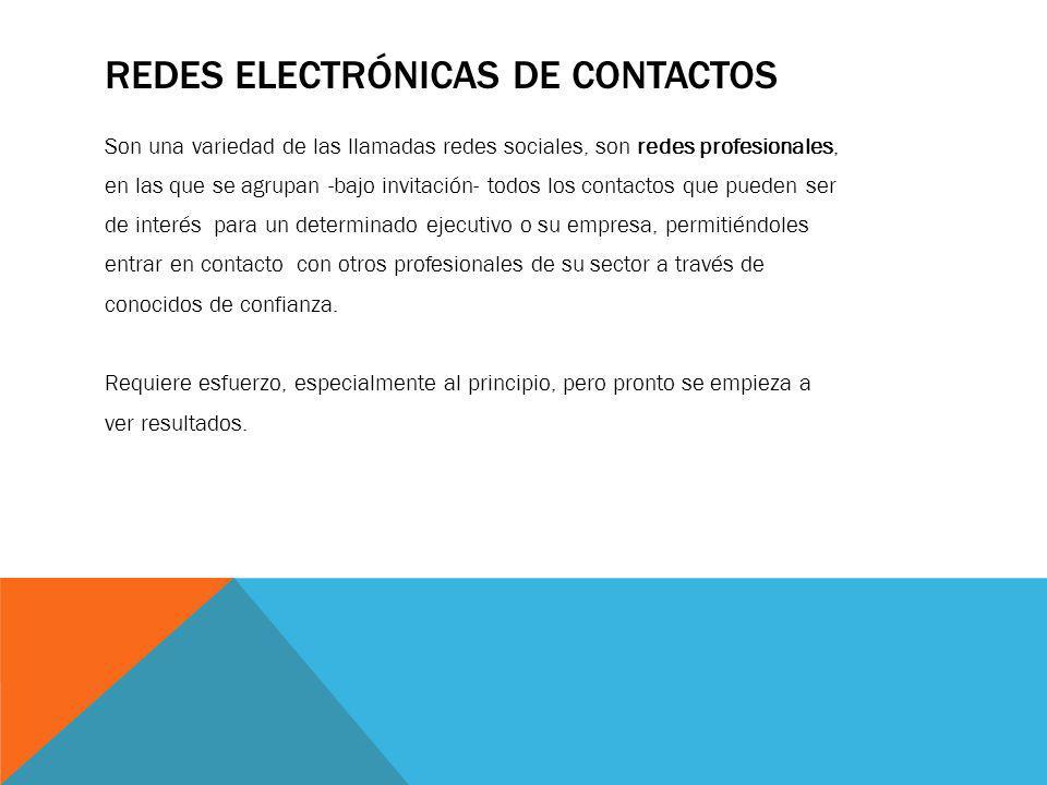 Redes electrónicas de contactos