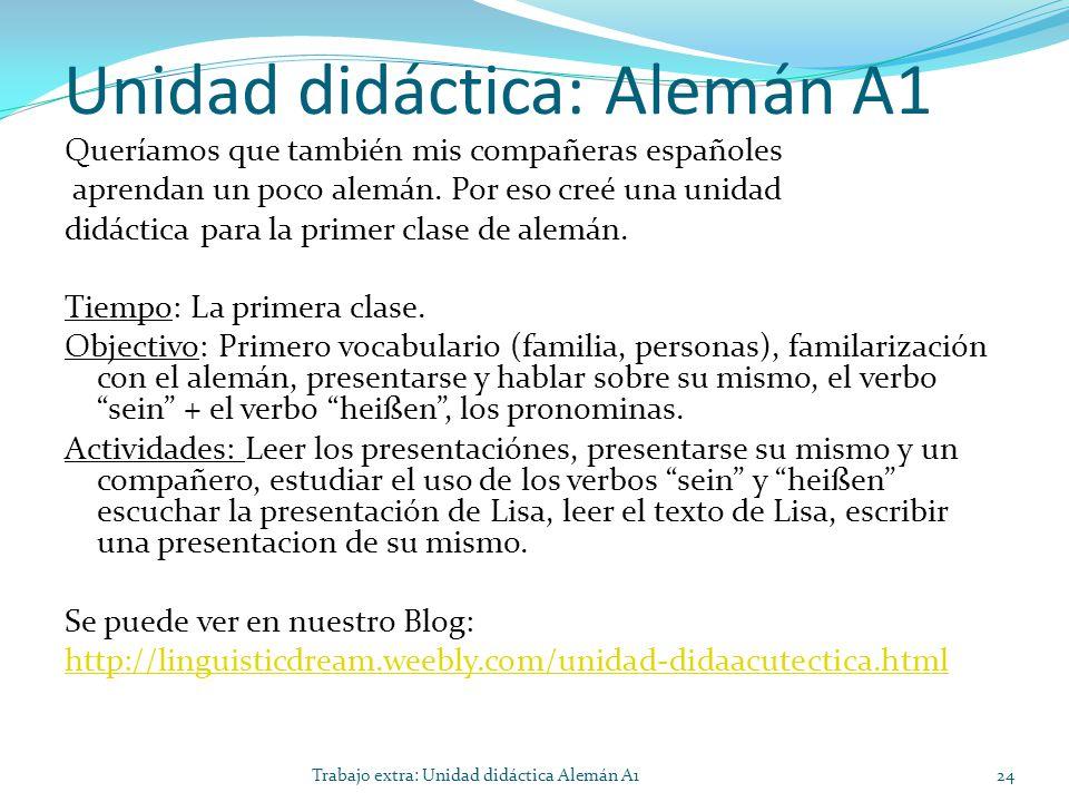Unidad didáctica: Alemán A1