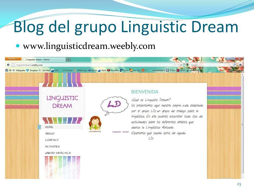 Blog del grupo Linguistic Dream