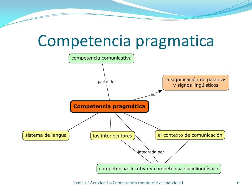 Competencia pragmatica