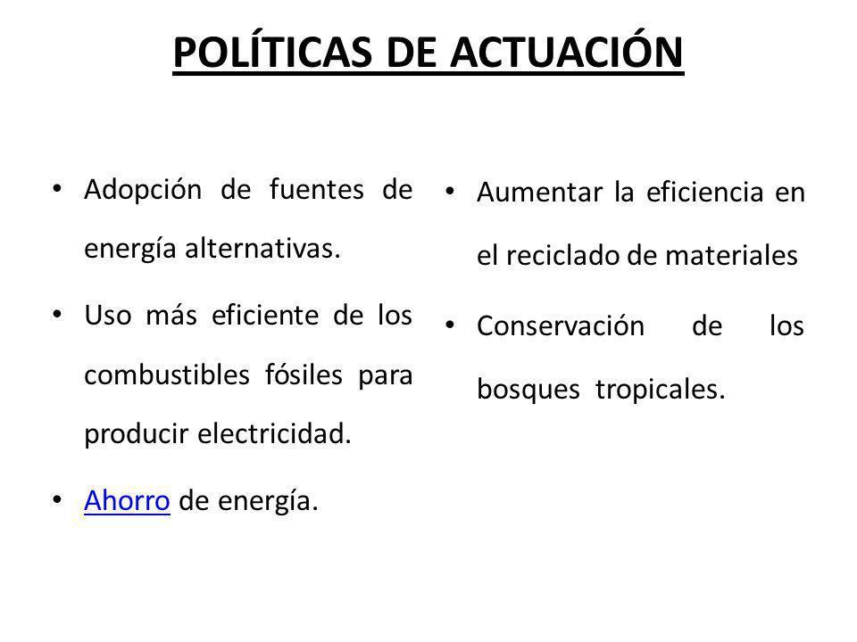 POLÍTICAS DE ACTUACIÓN