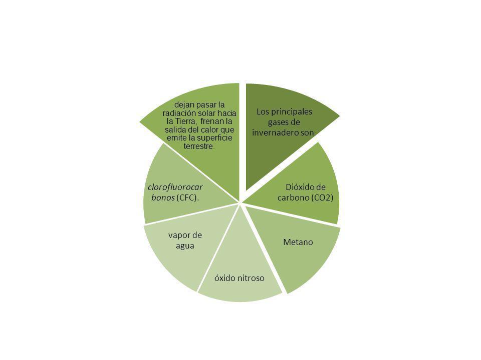 Los principales gases de invernadero son: