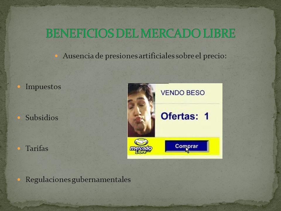 BENEFICIOS DEL MERCADO LIBRE