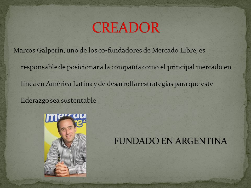 CREADOR FUNDADO EN ARGENTINA