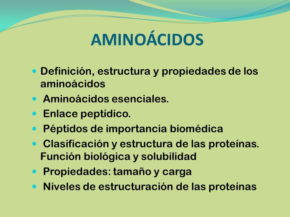 AMINOÁCIDOS Definición, estructura y propiedades de los aminoácidos