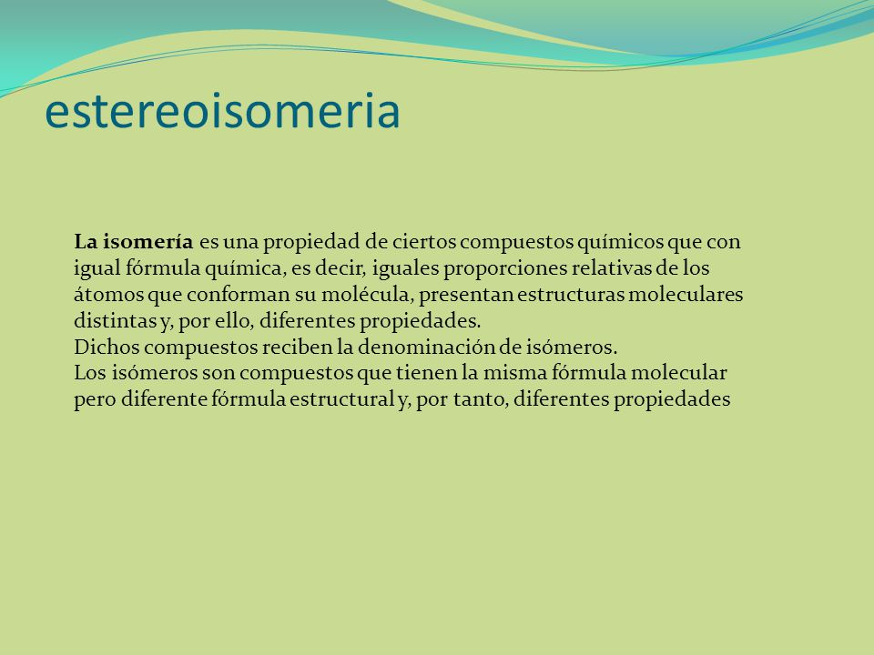 estereoisomeria