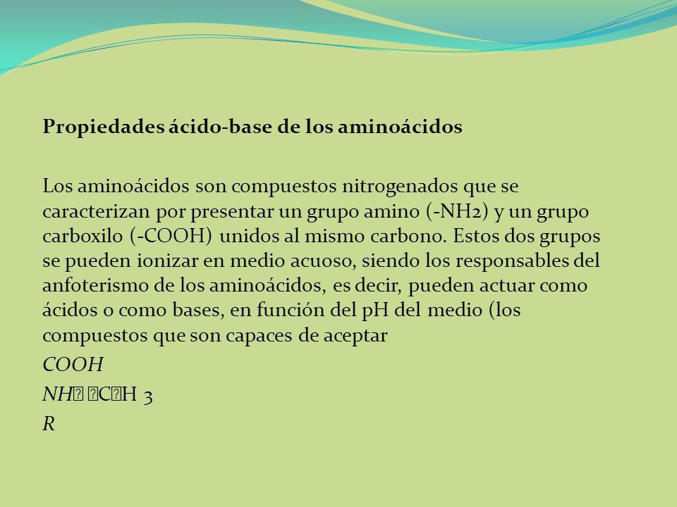 Propiedades ácido-base de los aminoácidos