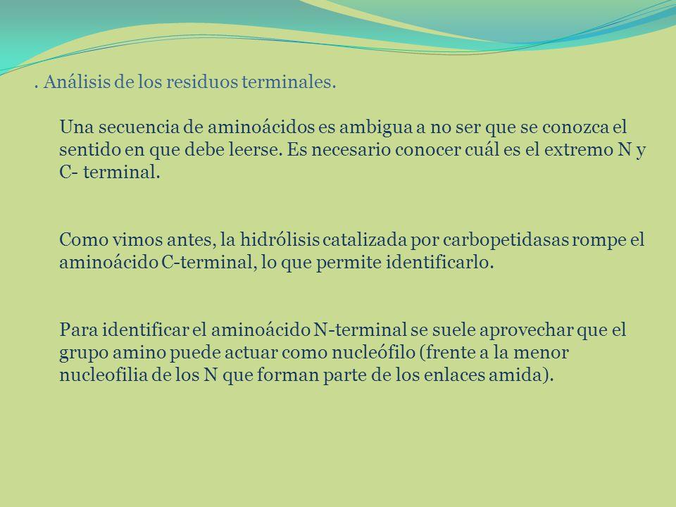 Análisis de los residuos terminales