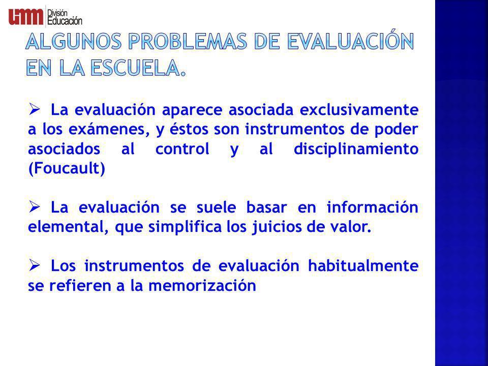 Algunos problemas de evaluación en la escuela.
