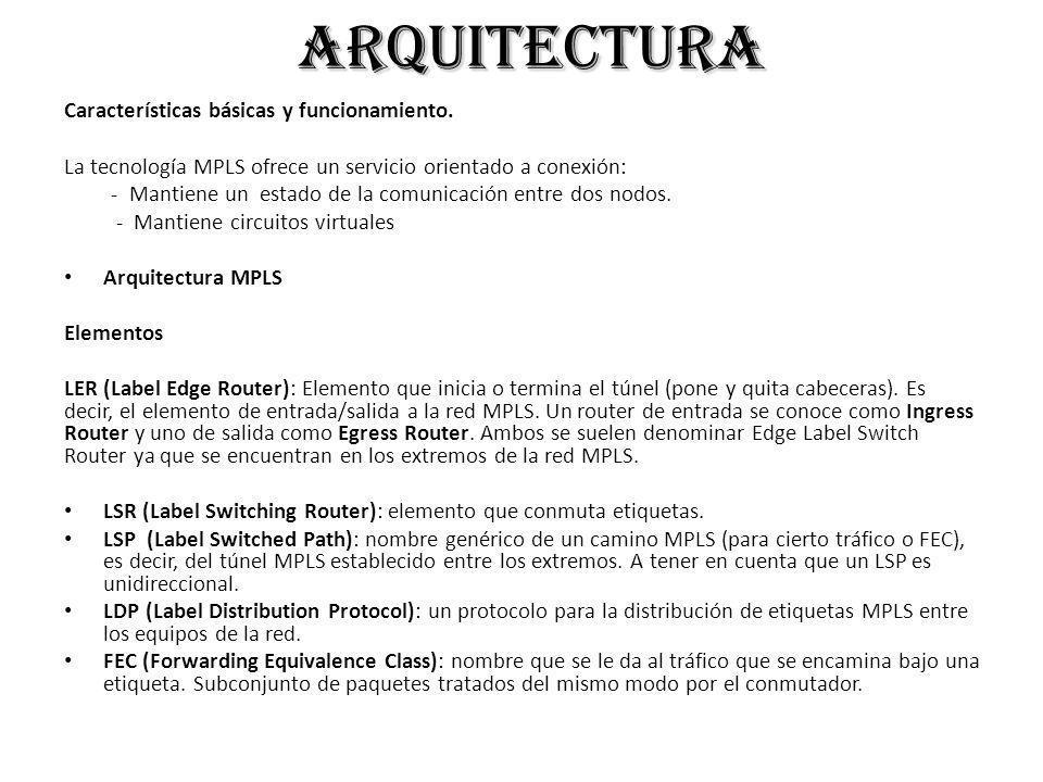 Arquitectura Características básicas y funcionamiento.