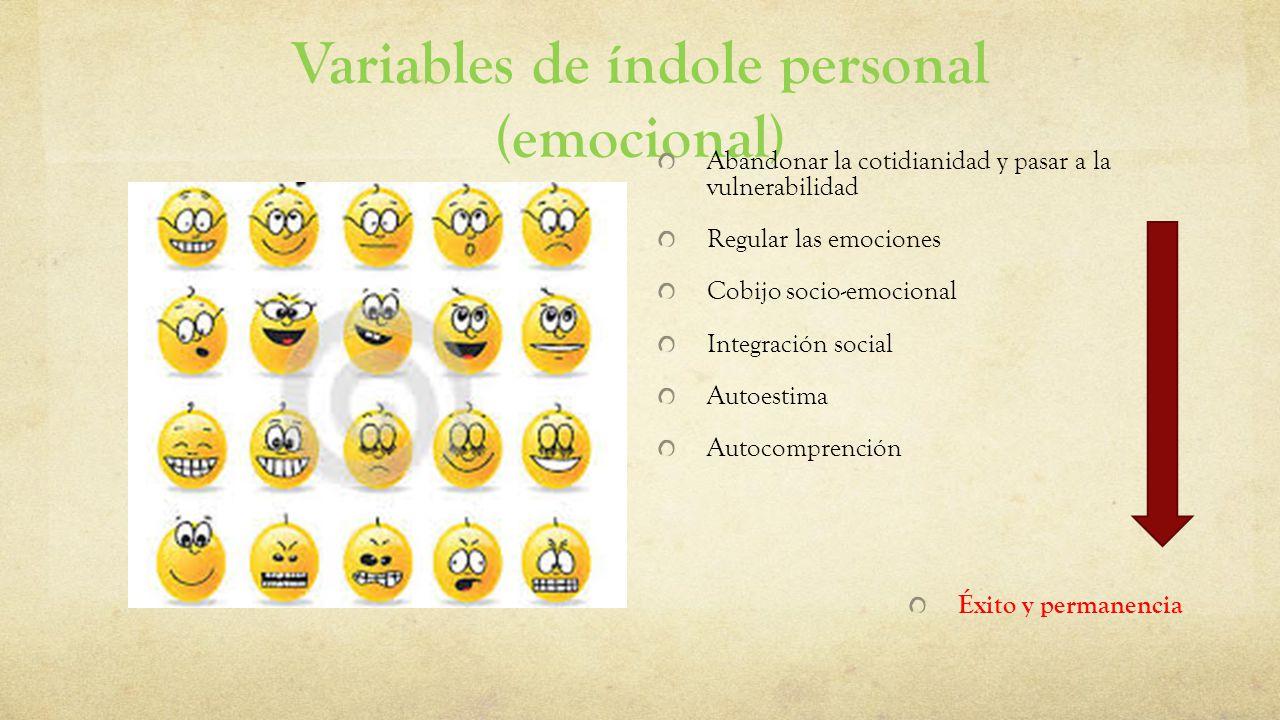 Variables de índole personal (emocional)