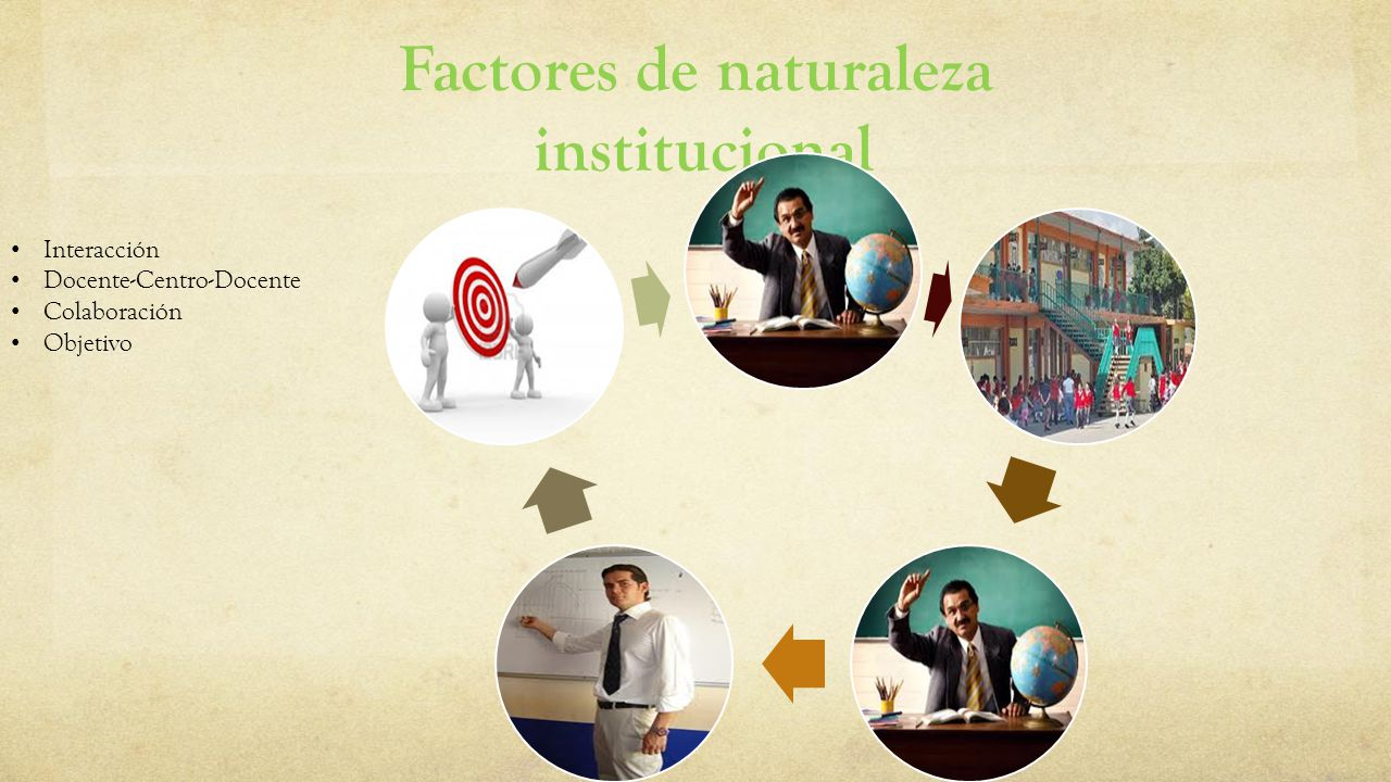 Factores de naturaleza institucional