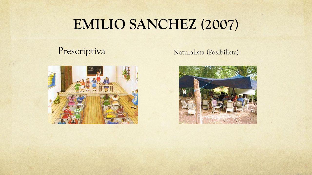 EMILIO SANCHEZ (2007) Prescriptiva Naturalista (Posibilista)