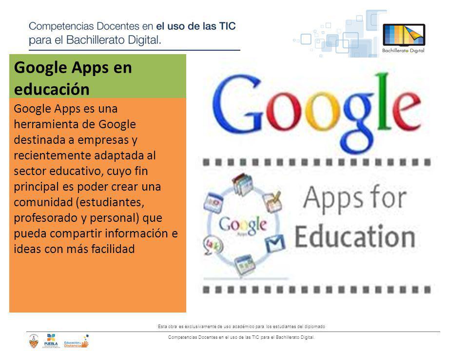 Google Apps en educación