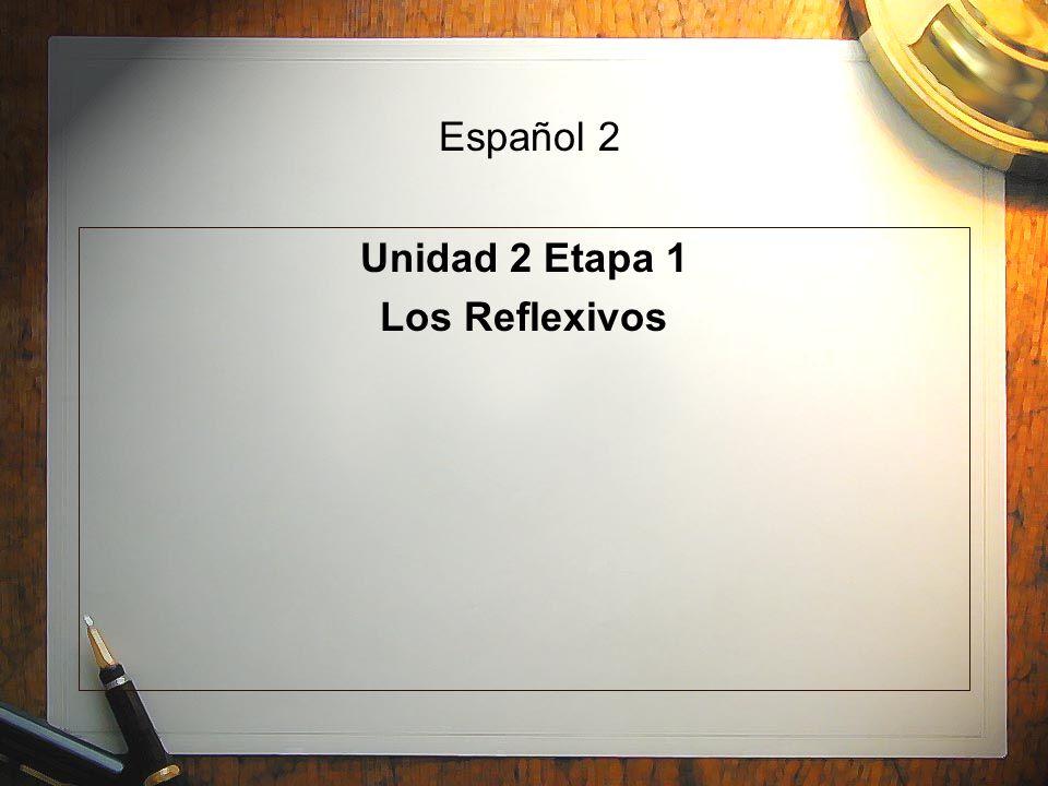 Español 2 Unidad 2 Etapa 1 Los Reflexivos