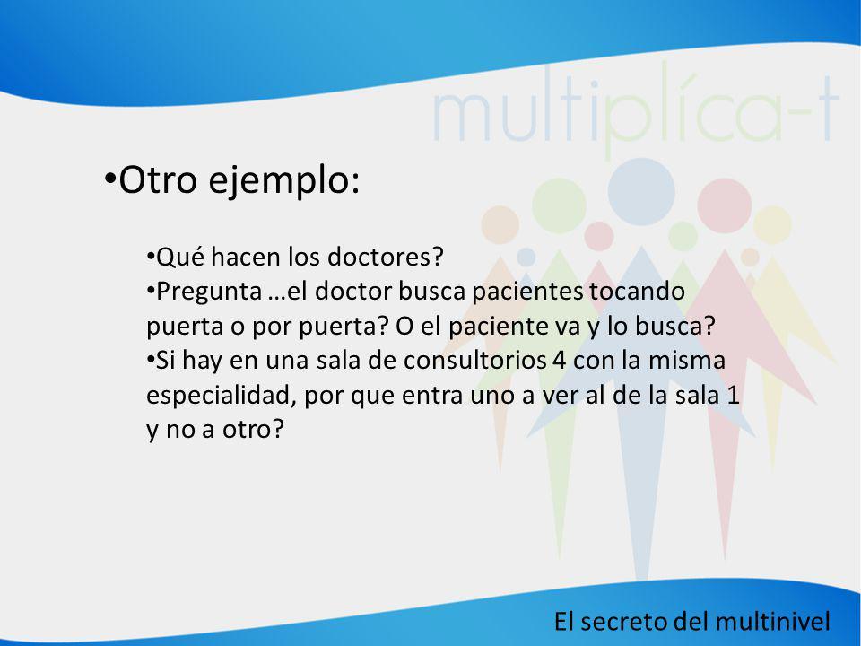 Otro ejemplo: Qué hacen los doctores