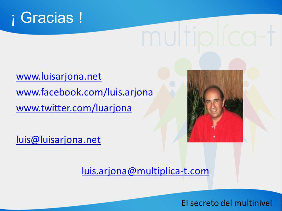 ¡ Gracias ! www.luisarjona.net www.facebook.com/luis.arjona