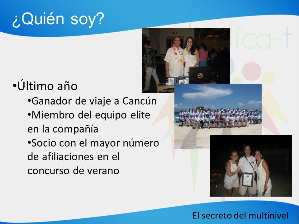 ¿Quién soy Último año Ganador de viaje a Cancún