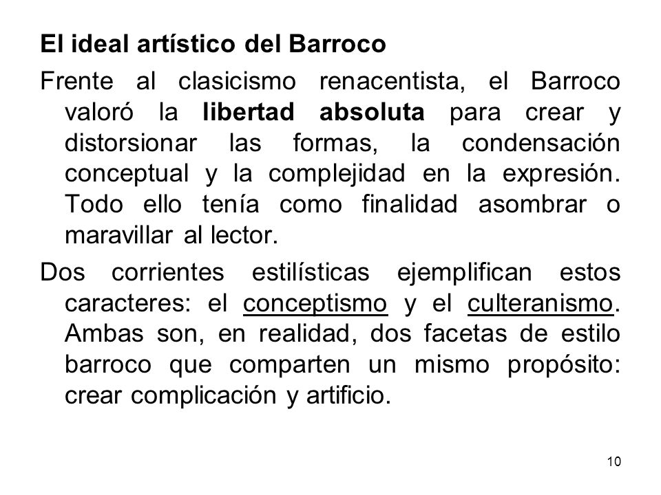 El ideal artístico del Barroco
