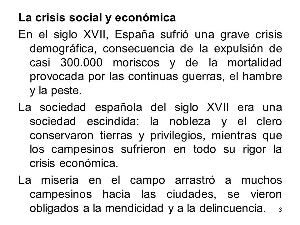 La crisis social y económica