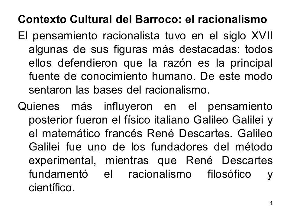 Contexto Cultural del Barroco: el racionalismo