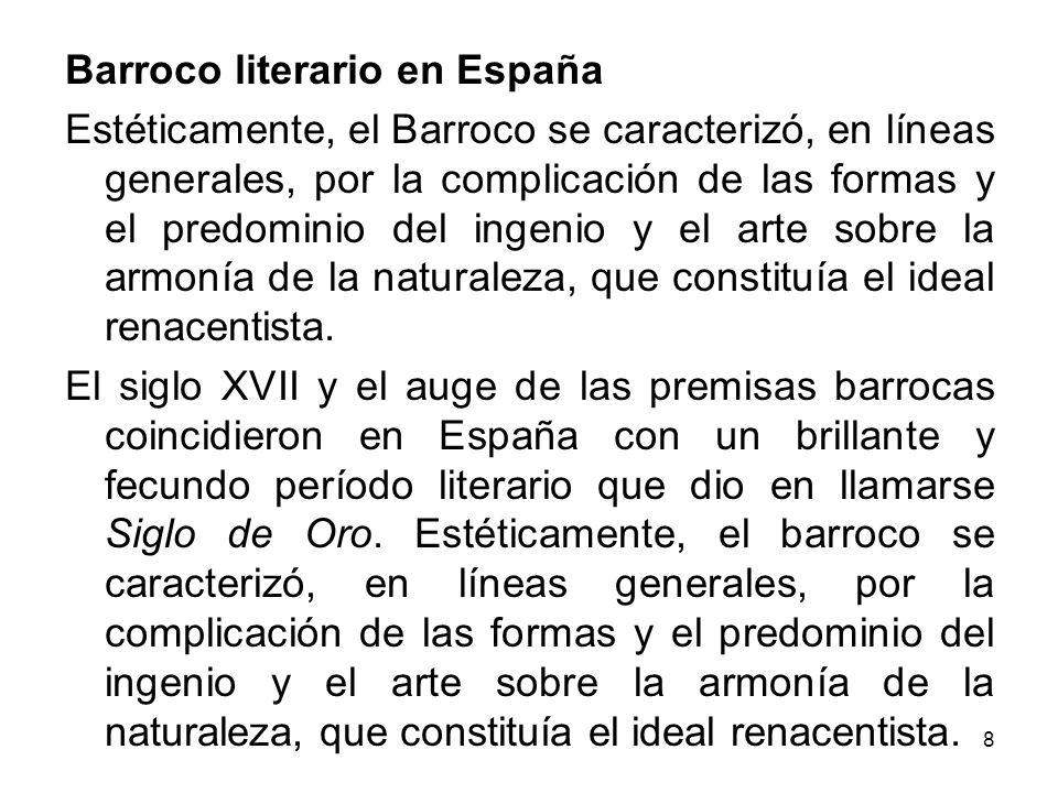 Barroco literario en España