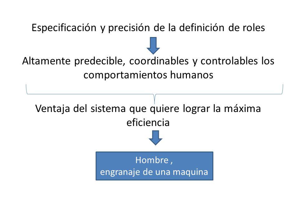Especificación y precisión de la definición de roles