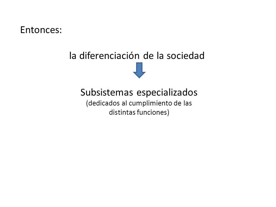 la diferenciación de la sociedad