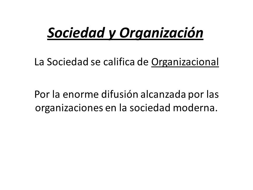 Sociedad y Organización