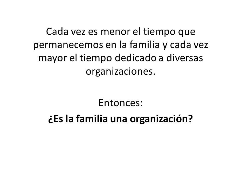 ¿Es la familia una organización
