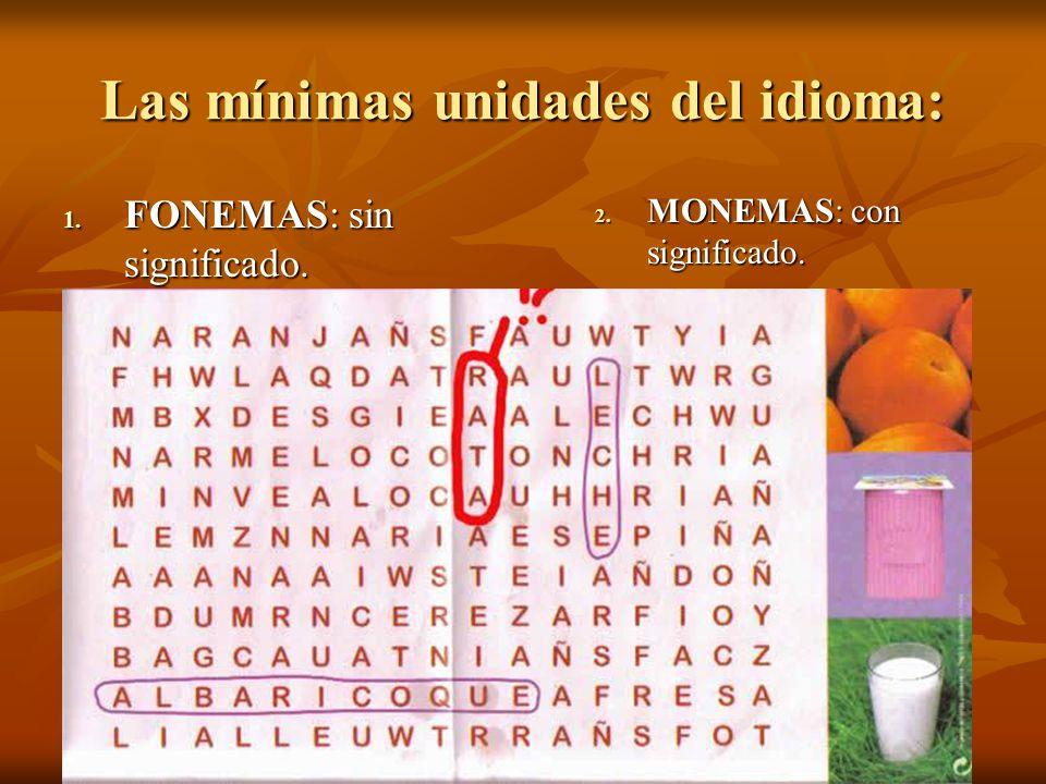 Las mínimas unidades del idioma: